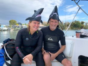 Holly Davis and her brother Lon enjoying the Crystal River waters in 2019.